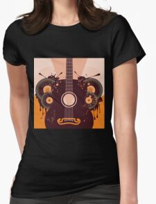 Retro Guitar Poster 2 Womens Fitted T-Shirt
