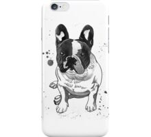 Hand drawn portrait of french bulldog iPhone Case/Skin