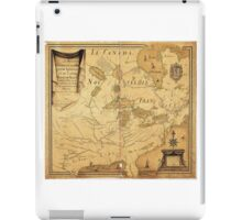 French Map of North America by Jean Baptiste Louis Franquelin (1685) iPad Case/Skin