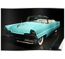 Blue Lincoln Continental Poster