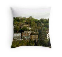 The Town Of Ironbridge in  Shropshire Throw Pillow