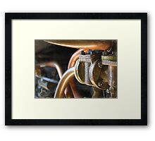 Steam Train Engine Works in Pastels Framed Print