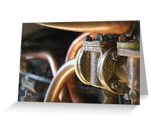 Steam Train Engine Works in Pastels Greeting Card