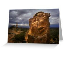 Outback Sculpture - Broken Hill Greeting Card