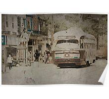 Vintage Streetcar Poster