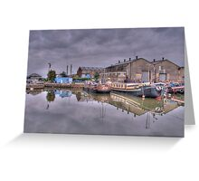 Houseboats at Gravesend Marina Greeting Card