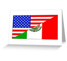 Mexican American Flag Greeting Card