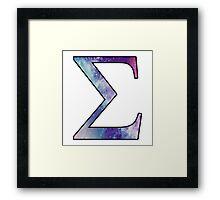 Sigma Galaxy Framed Print