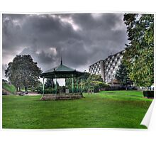 Green Bandstand Poster