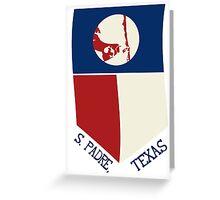 South Padre Island, Texas Flag Greeting Card