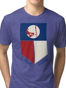South Padre Island, Texas Flag Tri-blend T-Shirt