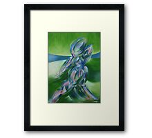 Terrible Figure in a Ring Framed Print