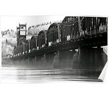 Old Train Bridge over the Fraser River Poster
