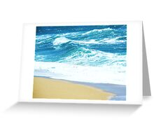 Aqua Agua Greeting Card