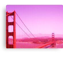 Golden Gate Redness Canvas Print