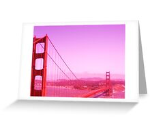 Golden Gate Redness Greeting Card