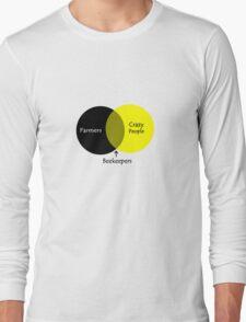 Beekeeping venn diagram geek funny nerd Long Sleeve T-Shirt