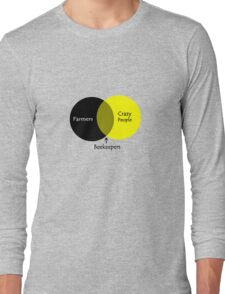 Beekeeping venn diagram geek funny nerd Long Sleeve T-Shirt
