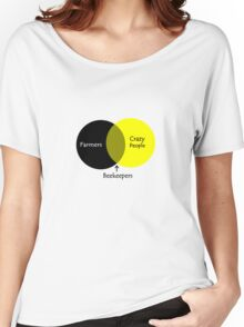 Beekeeping venn diagram geek funny nerd Women's Relaxed Fit T-Shirt