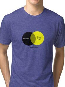 Beekeeping venn diagram geek funny nerd Tri-blend T-Shirt