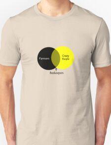 Beekeeping venn diagram geek funny nerd T-Shirt