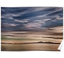 Wemyss Bay Evening Surprise across the water Poster