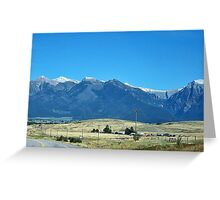 Mission Mountains 2 Greeting Card