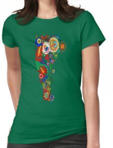 Paisley Floral Doodles Womens Fitted T-Shirt
