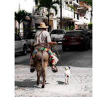 The Dog Walker - Puerto Vallarta Photographic Print