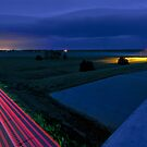 Night on a Nebraska Freeway Overpass by MattGranz