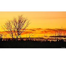 Back Deck Sunset Photographic Print
