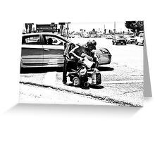 """"""" Get out of the way cripple ..... """" Greeting Card"""