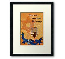 Warm Hanukkah Blessings Framed Print
