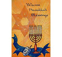 Warm Hanukkah Blessings Photographic Print