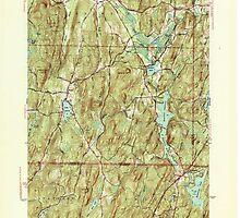 Massachusetts  USGS Historical Topo Map MA Wales 352297 1946 31680 by wetdryvac
