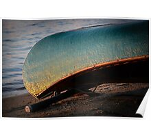 Canoe at Sunset Poster