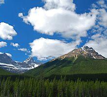 Where Heaven and Earth Kiss - Canadian Rockies by Barbara Burkhardt