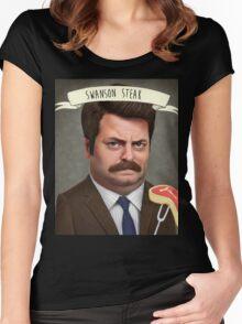 Swanson Steak Women's Fitted Scoop T-Shirt