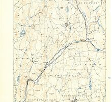 Massachusetts  USGS Historical Topo Map MA Barre 352451 1889 62500 by wetdryvac