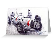 Auto Union C Type V16 B Rosenmeyer Greeting Card