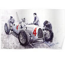 Auto Union C Type V16 B Rosenmeyer Poster
