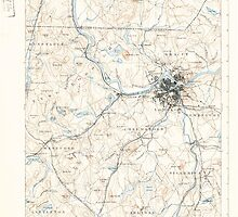 Massachusetts  USGS Historical Topo Map MA Lowell 352816 1893 62500 by wetdryvac
