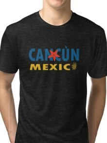 Cancun mexico graphic geek funny nerd Tri-blend T-Shirt