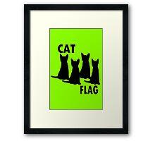 Cat flag geek funny nerd Framed Print