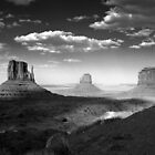 Monument Valley in Black &amp; White  by Lucinda Walter