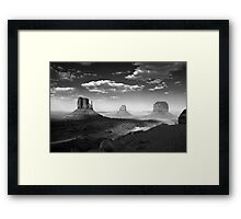 Monument Valley in Black & White  Framed Print