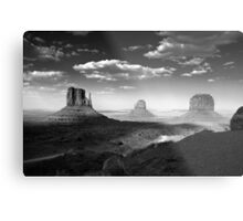 Monument Valley in Black & White  Metal Print