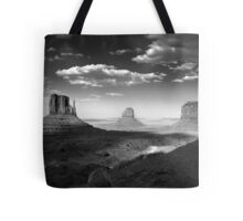 Monument Valley in Black & White  Tote Bag