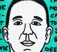C.S. Lewis Folk Art Sticker