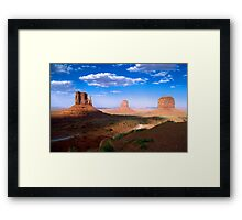 Mittens in Monument Valley Framed Print